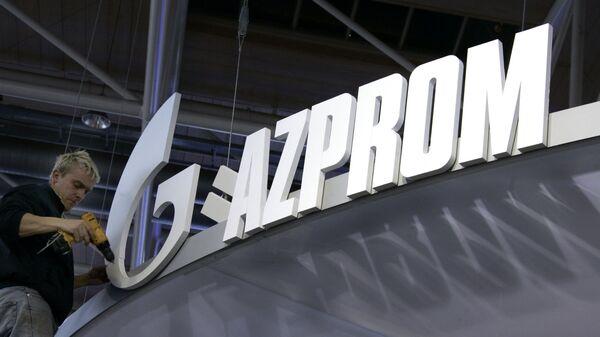 Logo Gazprom alla Fiera di Hannover - Sputnik Italia