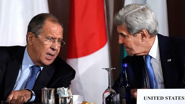 Sergey Lavrov e John Kerry a New York nell'incontro sulla Siria - Sputnik Italia