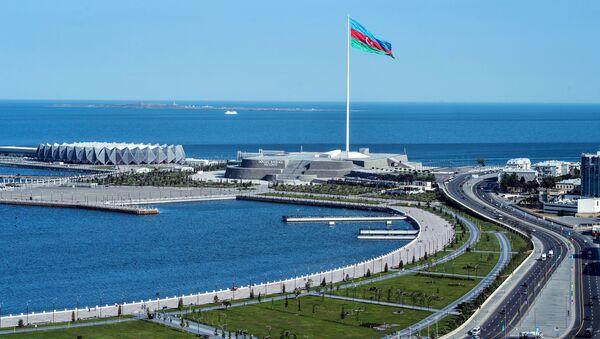 Bandiera dell'Azerbaigian a Baku - Sputnik Italia