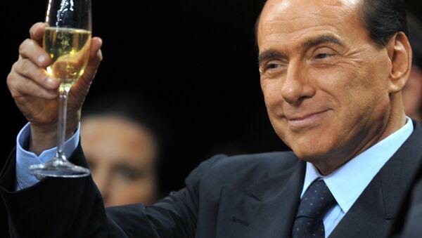 Silvio Berlusconi prima di una partita di calcio Serie A al San Siro Stadium a Milano. - Sputnik Italia