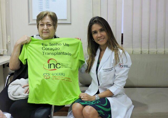 Ivonette Balthazar e la dottoressa Jacqueline Sampaio