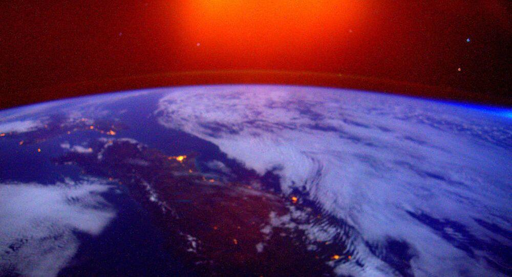 Una foto della Terra presa dall'ISS