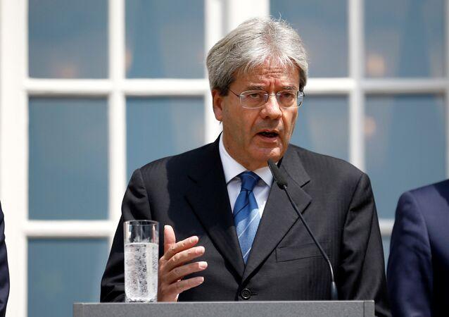 Il ministro degli Esteri italiano Paolo Gentiloni