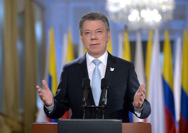 Il presidente della Colombia Juan Manuel Santos