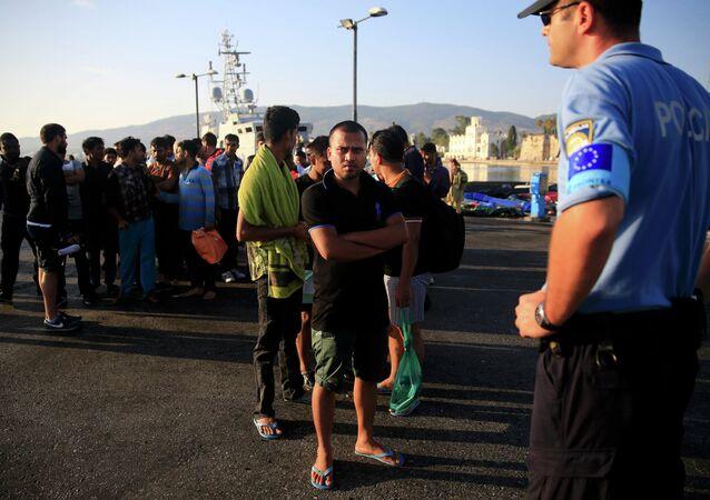 Guardia di frontiera Frontex