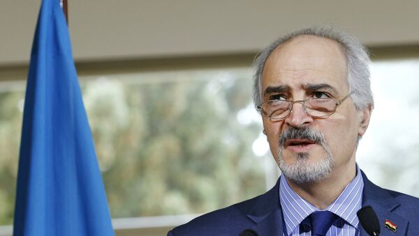 Syrian government's head of delegation Bashar al-Jaafari attends a news conference after a meeting on Syria at the European headquarters of the United Nations in Geneva, Switzerland, April 18, 2016. - Sputnik Italia