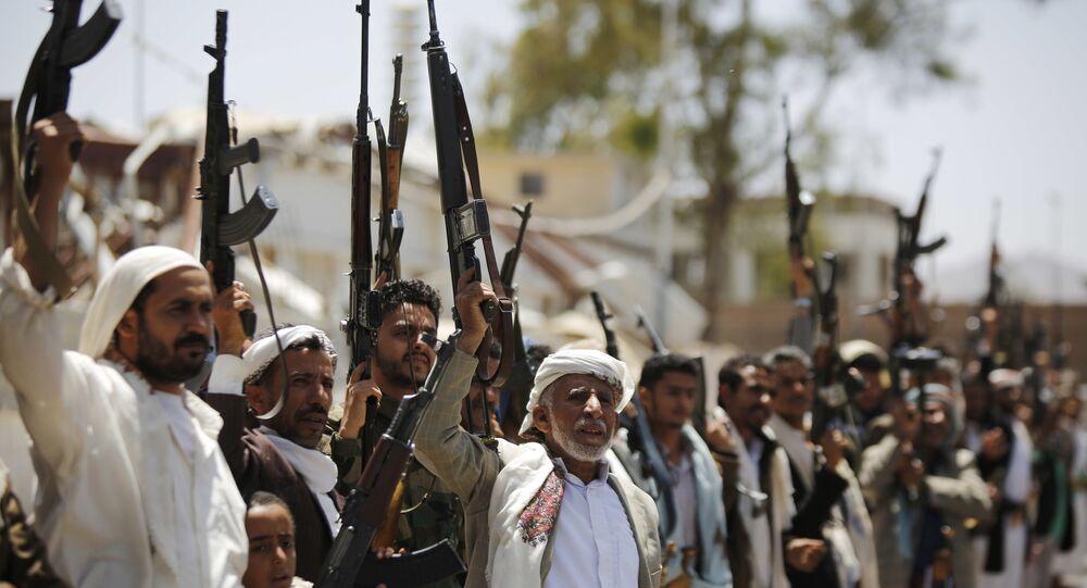 Ribelli Huthi in Yemen (foto d'archivio)