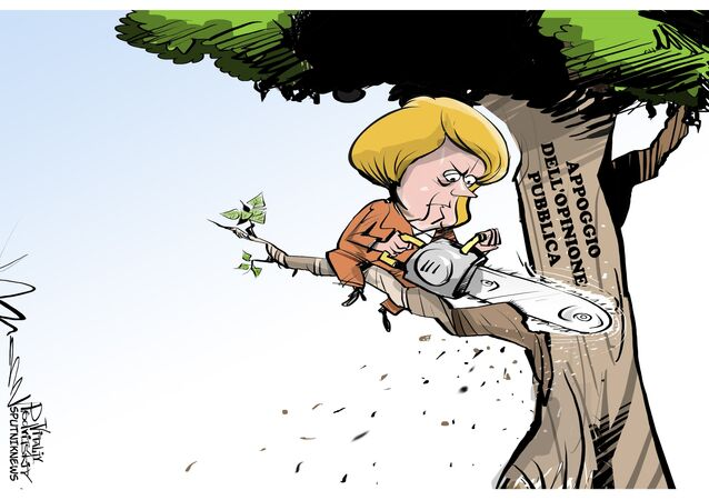 Merkel senza appoggio dell'opinione pubblica