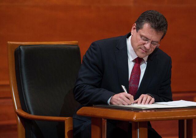 Il vicepresidente della Commissione europea per l'energia dell'Unione Maroš Šefčovič