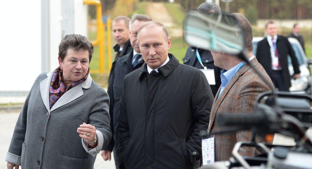 Putin durante sua visita nella regione di Vladimir