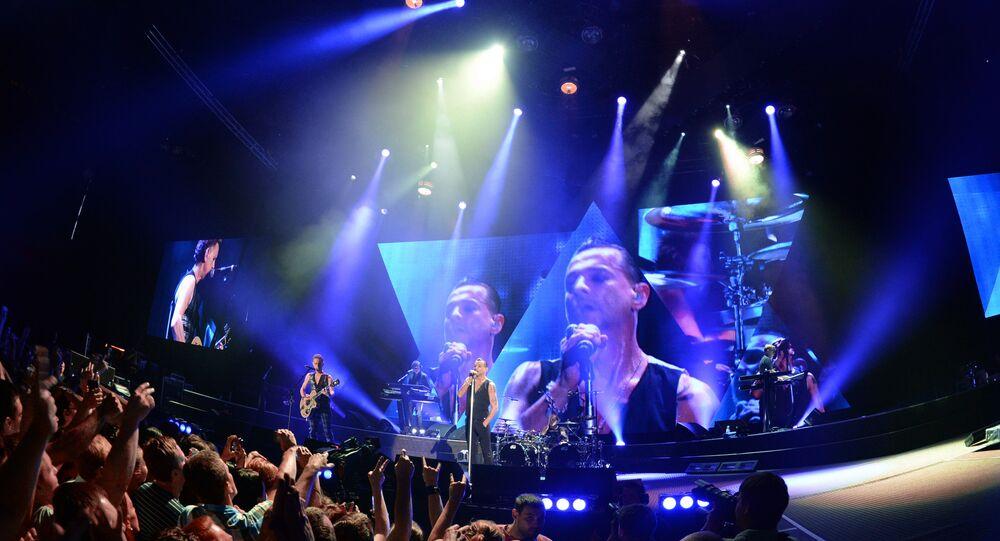 Al concerto di Depeche Mode a San Pietroburgo