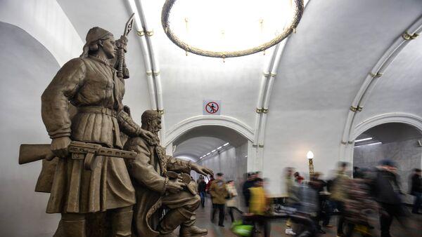 Una stazione della metropolitana di Mosca, che durante la guerra era usata come rifugio - Sputnik Italia