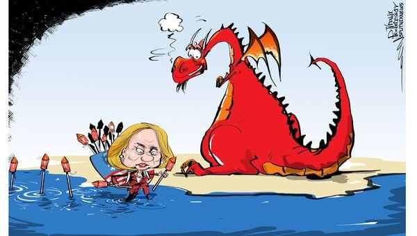 Clinton e il suo drago - Sputnik Italia