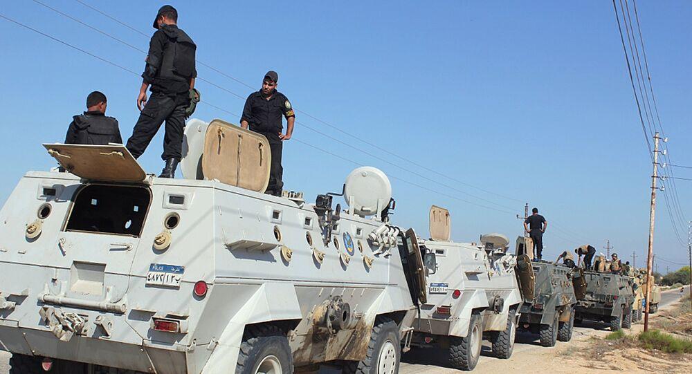 Forze di sicurezza egiziane nel Sinai