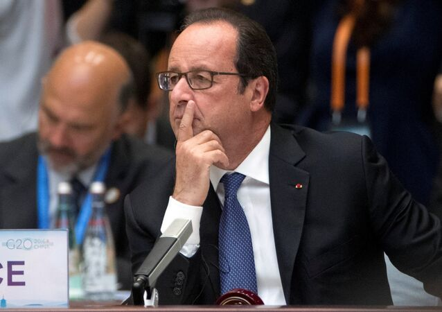 Presidente francese Francois Hollande