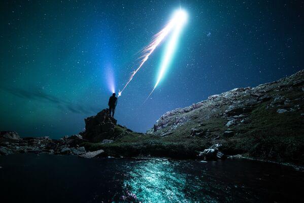 L'aurora nel cielo nella penisola di Kola. - Sputnik Italia
