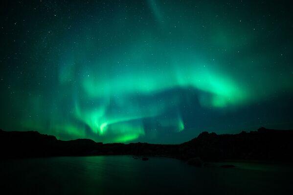 L'aurora nelle vicinanze del villaggio di Teribeika. La regione di Murmansk. - Sputnik Italia