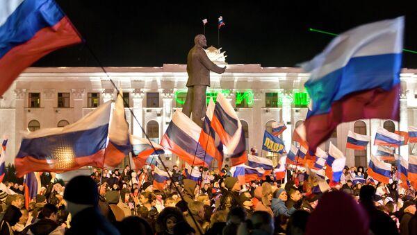 Simferopoli, manifestazione pro-Russia - Sputnik Italia