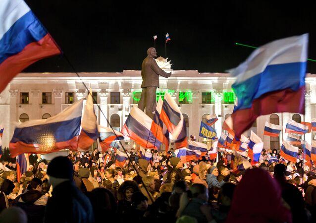 Simferopoli, manifestazione pro-Russia il 16 marzo 2014 (foto d'archivio)