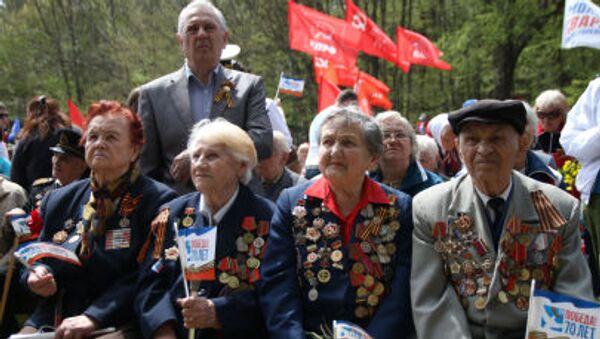 Veterani della seconda Guerra Mondiale alle manifestazioni del 9 maggio 2014 in Crimea. - Sputnik Italia