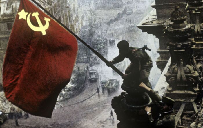 Simbolo della Vittoria sul Reichstag a Berlino