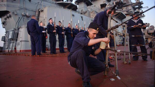 Russia's Pyotr Veliky missile cruiser makes port call in Tartus, Syria - Sputnik Italia