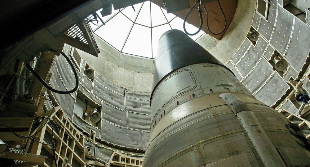 Missile balistico intercontinentale americano Titan II (foto d'archivio)