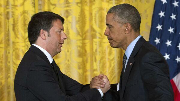 Matteo Renzi e Barack Obama - Sputnik Italia