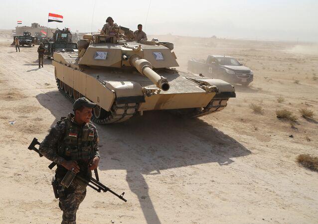 Forze irachene nei pressi di Mosul