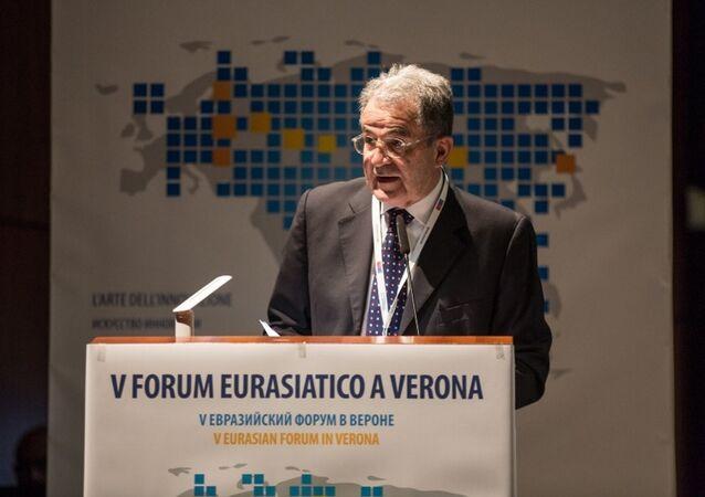 Romano Prodi al forum di Verona