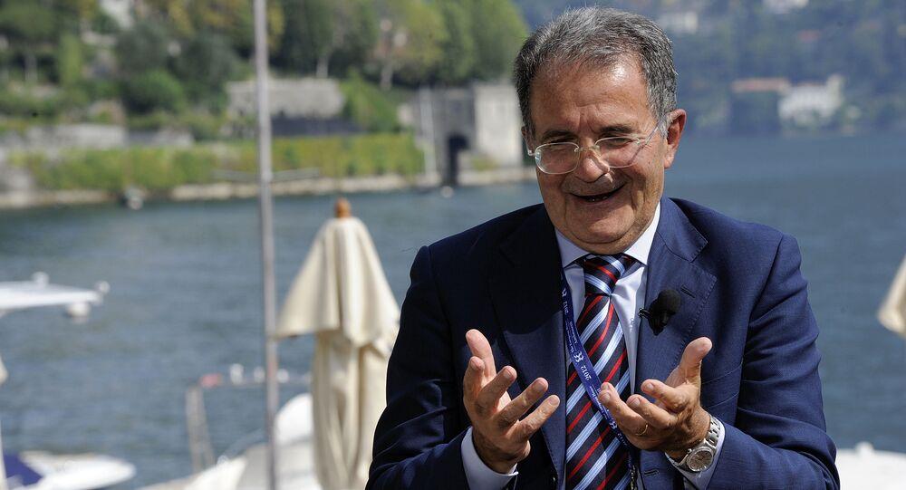 Ex presidente del Consiglio italiano Romano Prodi