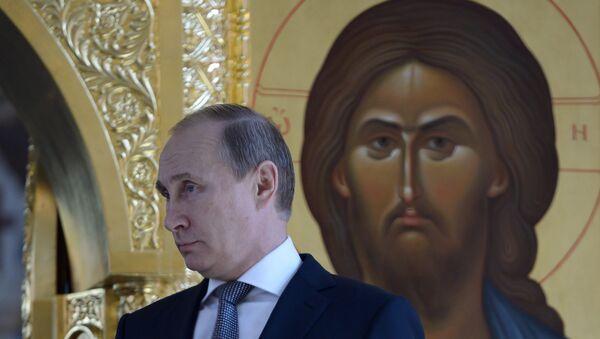 Putin nella cattedrale di Cristo Salvatore - Sputnik Italia