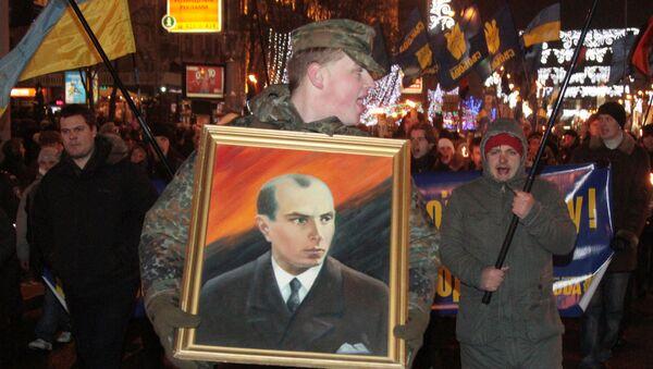 Nationalists hold torchlight procession to commemorate birth of Stepan Bandera. File photo - Sputnik Italia
