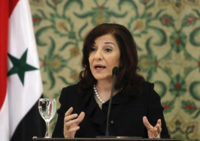 Bouthaina Shaaban, consigliere del presidente siriano Bashar Assad