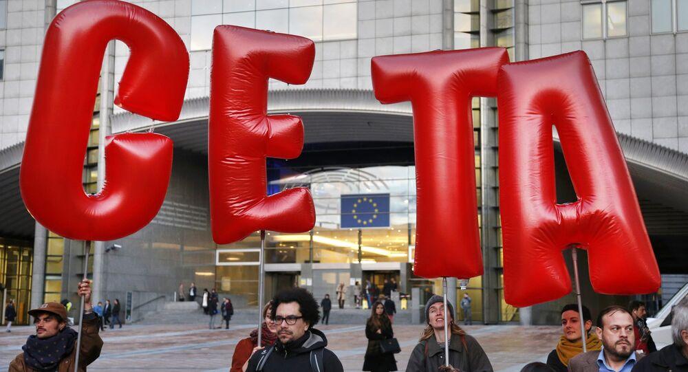 Proteste contro il Ceta a Bruxelles