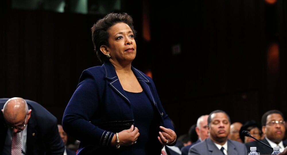 Loretta Lynch takes her seat to testify before a Senate Judiciary Committee confirmation hearing on her nomination to become U.S. attorney general on Capitol Hill in Washington January 28, 2015.