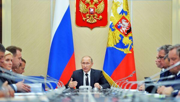 Riunione tra Vladimir Putin ed i ministri della Federazione Russa - Sputnik Italia
