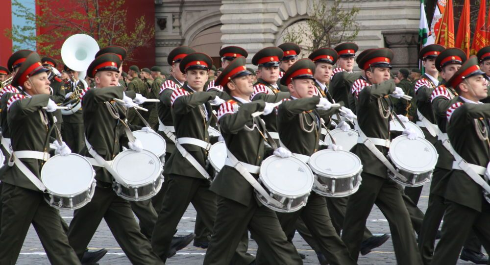 La banda delle Forze Armate russe alla Parata della Vittoria.