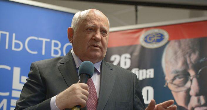 Il primo presidente dell`URSS Michail Gorbaciov