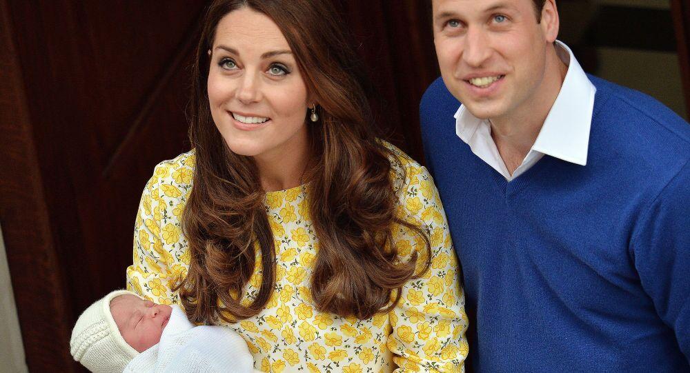 La Duchessa e il duca di Cambridge e la loro figlia