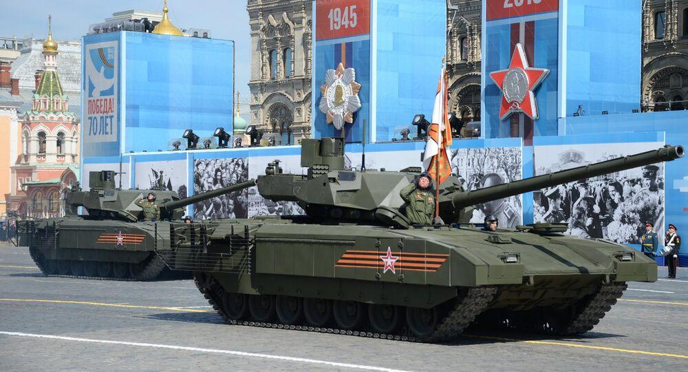 Tank Armata durante Parata Vittoria a Mosca