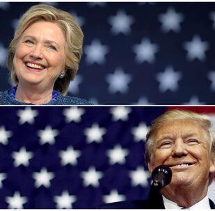 Hillary Clinton e Donal Trump