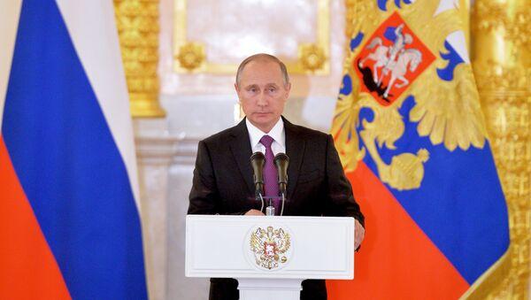 Putin al Cremlino incontra i nuovi ambasciatori - Sputnik Italia