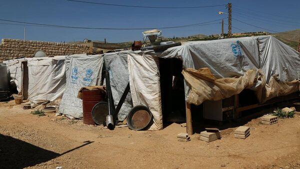 Campo di rifugiati siriani in Libano - Sputnik Italia