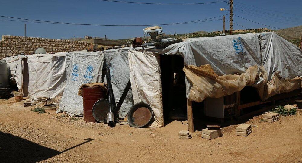 Campo di rifugiati siriani in Libano