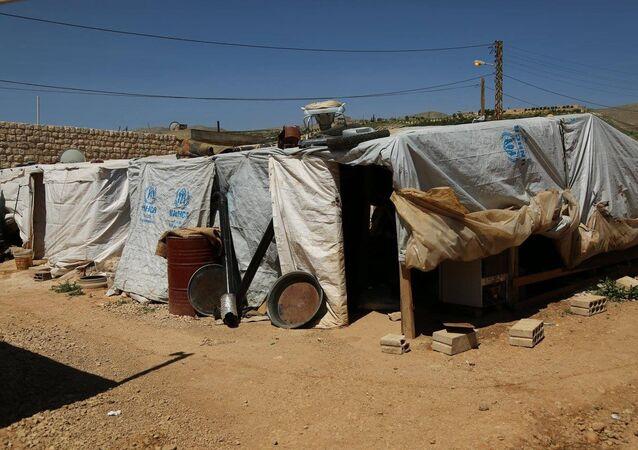 Campo per profughi siriani in Libano (foto d'archivio)