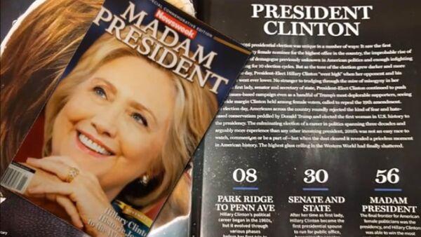 Il Newsweek dedicato alla vittoria di Hillary Clinton - Sputnik Italia
