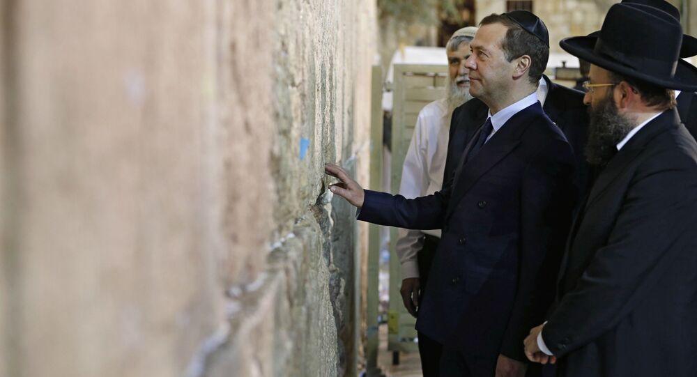 Dmitry Medvedem in visita in Israele