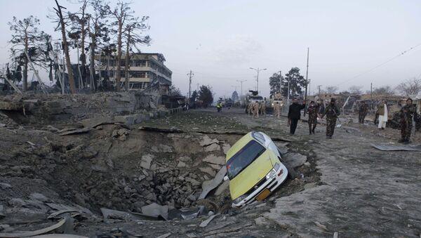 Luogo dell'espolione vicino al consolato tedesco a Mazar-i-Sharif, Afghanistan - Sputnik Italia