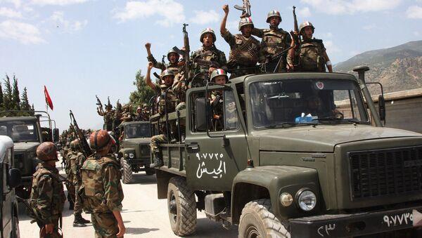 Soldati siriani nella provincia di Damasco - Sputnik Italia